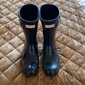 Short Hunter Gloss rain Boots - Black